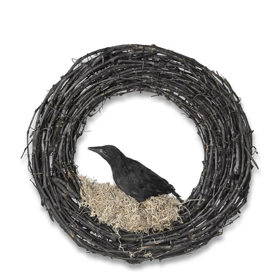 Halloween Crow Wreath, 20