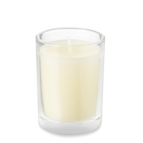 Filled-Glass Votive Candles, Set of 12, Ivory