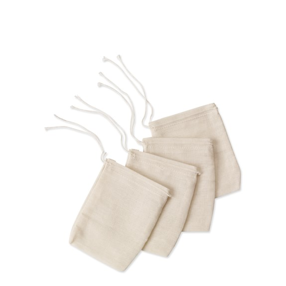 Natural Spice Bags, Set of 4