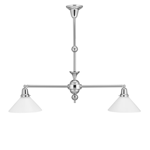 Rejuvenation Abelard Pendant, Polished Nickel