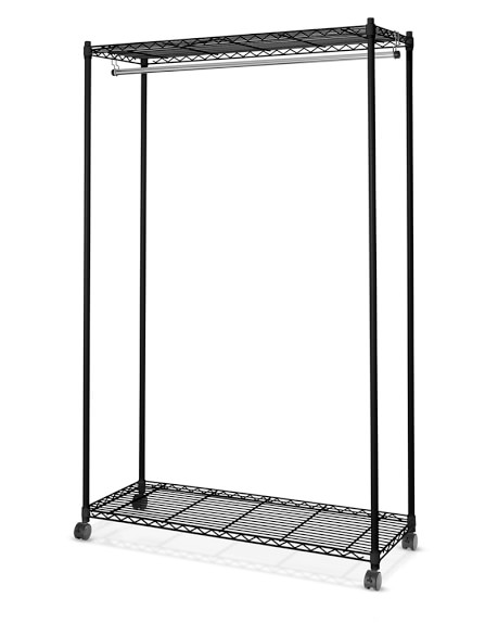 Wire Shelving Garment Rack, Black