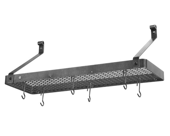 Enclume Deep Shelf Pot Rack, Hammered Steel, 36
