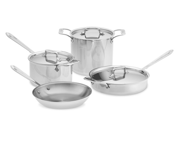 All-Clad d5 Stainless-Steel 7-Piece Set