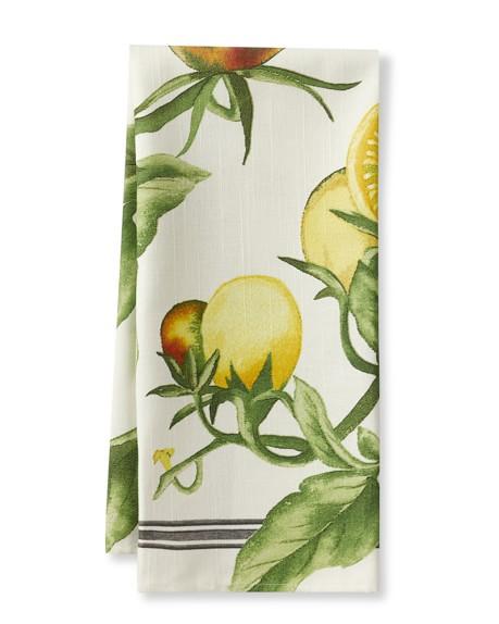 Botanical Tomato Icon Towels, Set of 2