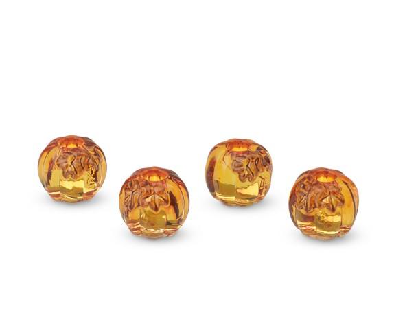 Pumpkin Tiny Taper Holders, Set of 4