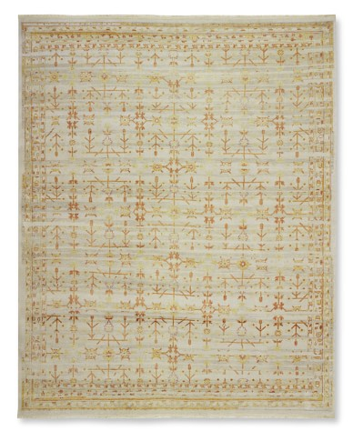 Autumn Fields Hand-Knotted Rug, 6' X 9', Grey