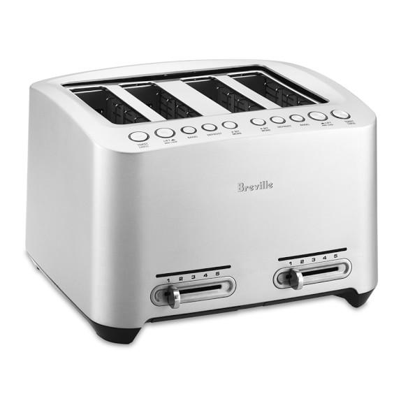 Breville Die-Cast Stainless-Steel Toaster, 4-Slice, Model # BTA840XL