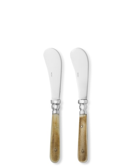 Bone Handled Cheese Spreaders, Set of 2