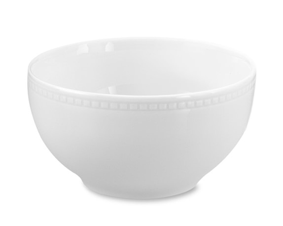 Apilco Beaded Hemstitch Porcelain Cereal Bowls, Set of 4