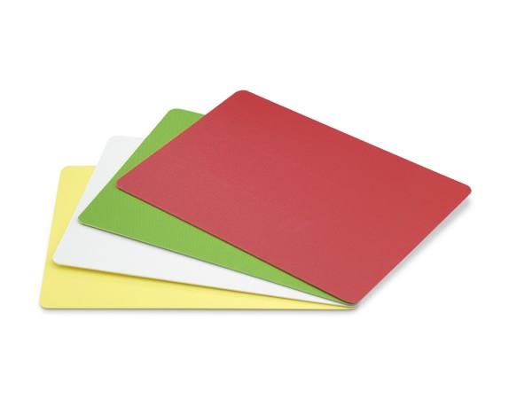 Dexas Flexi Multi-Color Cutting Boards, Set of 4, Rectangular