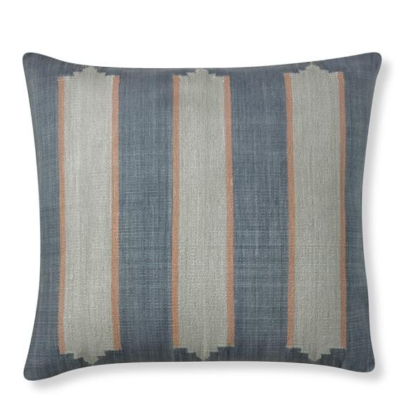 Shuttle Weave Stripe Rug Pillow Cover, Bold