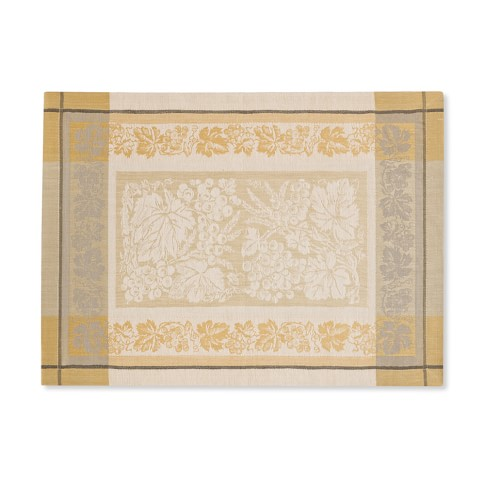 Wine Country Harvest Jacquard Place Mats, Set of 4, Wheat