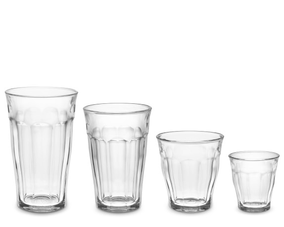 Picardie Glass Tumbler, Assorted, Set of 24