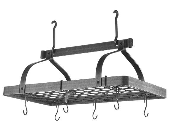 Enclume Steel Grande Cuisine Pot Rack, Hammered Steel