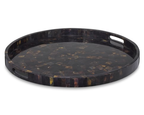Round Pen Shell Tray, Large, Black