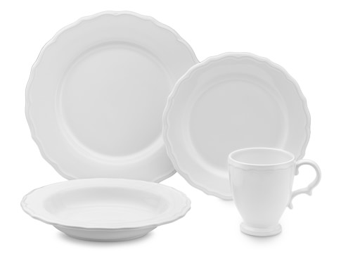 Alexia 16-Piece Dinnerware Place Setting, White