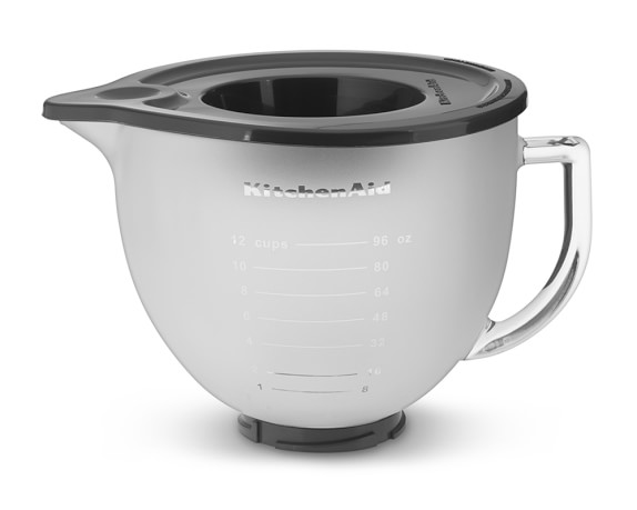 KitchenAid® 5-Qt. Frosted Glass Bowl with Lid