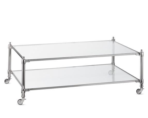 Stevenson Coffee Table, Polished Nickel