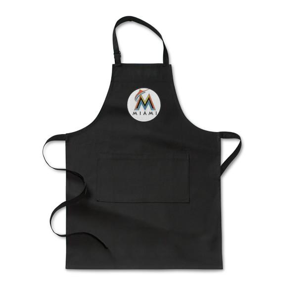 MLB™ Miami Marlins, Adult Apron, Black