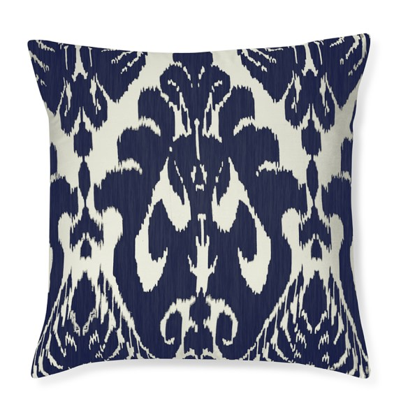 Silk Ikat Medallion Pillow Cover, 20