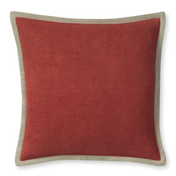 Chunky Herringbone Linen Pillow Cover, 20
