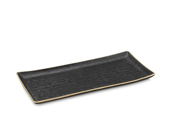 L'Objet Porcelain Rectangular Crocodile Tray
