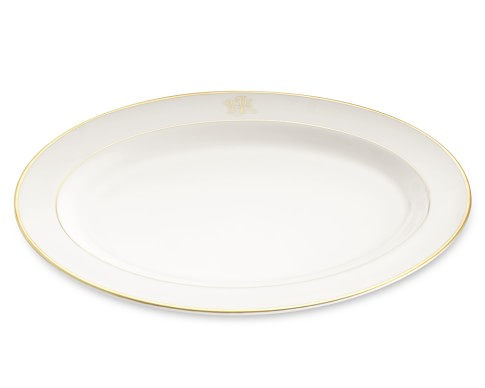 Pickard Signature Monogram Oval Platter, Gold