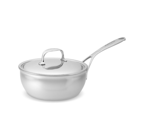 Demeyere Atlantis Stainless-Steel Curved Saute Pan, 2-Qt.