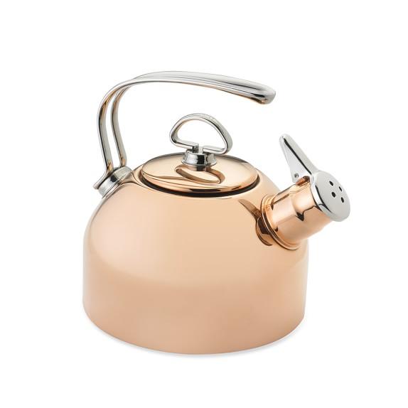 Whistling Tea Kettle ~ Chantal copper whistling tea kettle williams sonoma