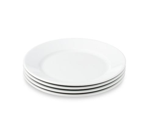 Apilco Très Grande Salad Plates, White, Set of 4