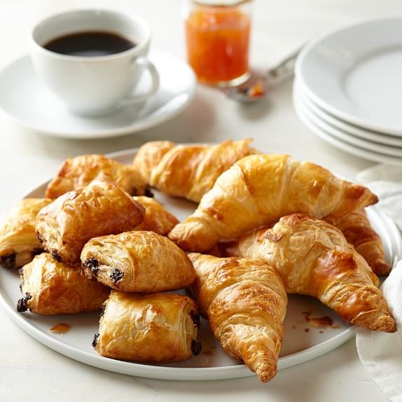 Ready-to-Bake Mini Plain/Chocolate Croissants, Set of 2