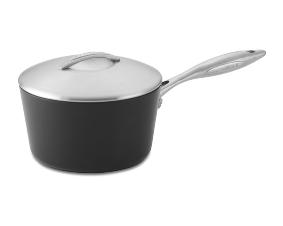 Scanpan Professional Nonstick Saucepan with Lid, 2-Qt.