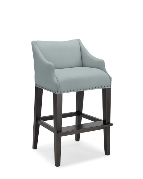 Grant Bar Stool, Brushed Canvas, Solid, Mist