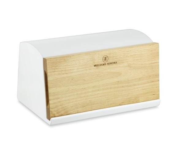 Williams-Sonoma Ceramic & Wood Bread Box