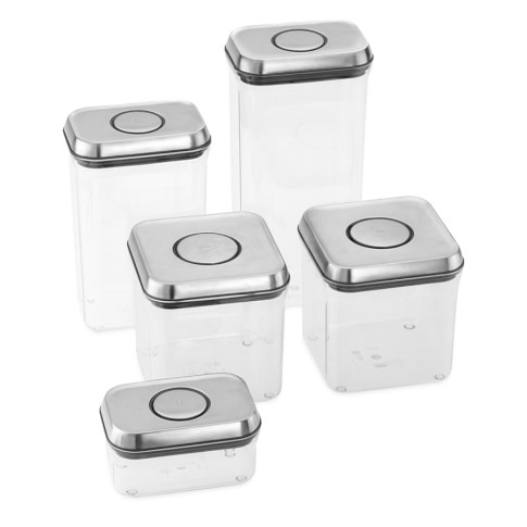OXO Steel Pop Containers, Set of 5