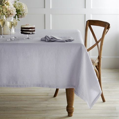 Linen Double Hemstitch Tablecloth 70