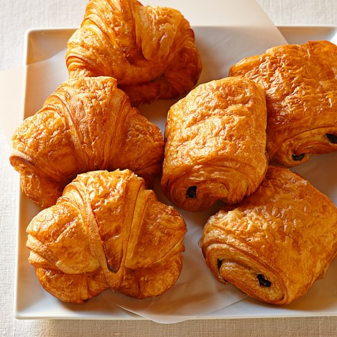 Classic & Chocolate Croissants, Set of 30