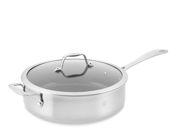 Zwilling Spirit Stainless-Steel Ceramic Nonstick Sauté Pan with Lid, 5-Qt.