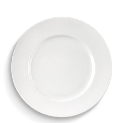 Brasserie All-White Porcelain Dinner Plates , Set of 4