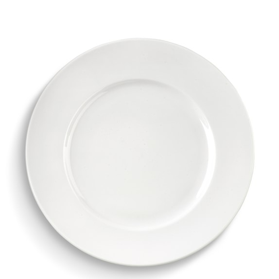 Brasserie All-White Porcelain Dinner Plates , Set of 4