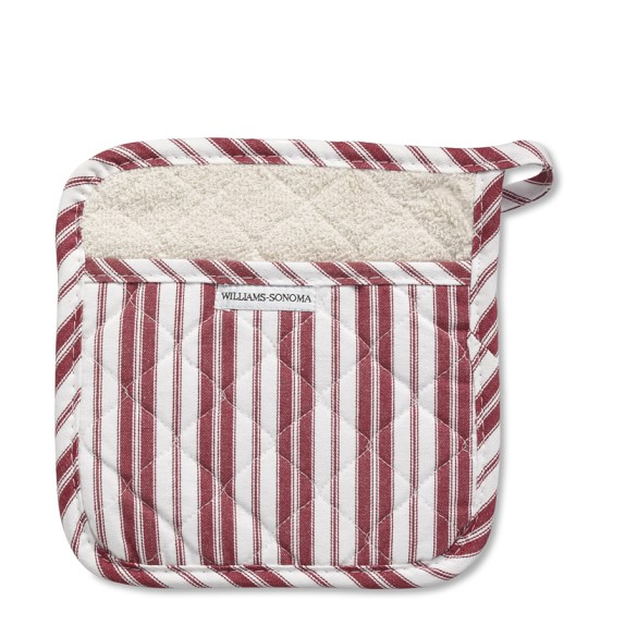 Williams-Sonoma Stripe Potholder, Claret