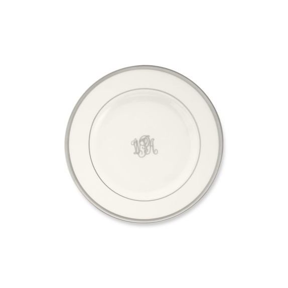 Pickard Signature Monogram Bread and Butter Plate, Platinum