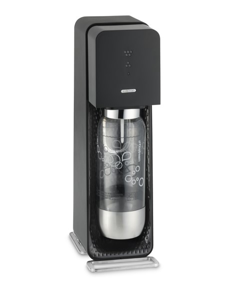 SodaStream Source Soda Maker, Black Plastic