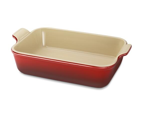 "Le Creuset Heritage Stoneware Rectangular Dish 7"" X 10 1/2"", Red"