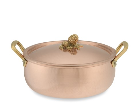Ruffoni Copper Artichoke Handle Braiser, 6-Qt.