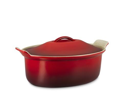 Le Creuset Heritage Cast-Iron Cocotte, 2 1/2-Qt., Red