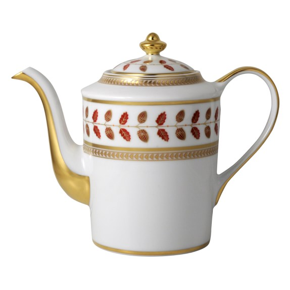 Bernardaud Constance Red Coffee Pot