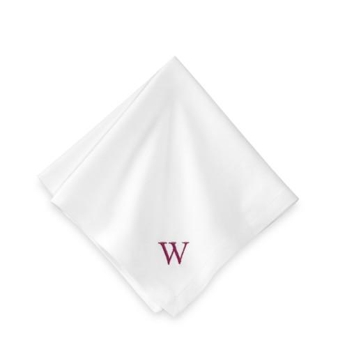Monogrammed Hotel Cocktail Napkins, White, Set of 6