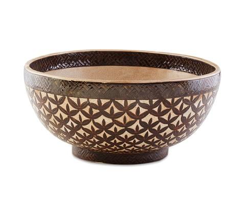 Decorative Patterned Bowl, Espresso