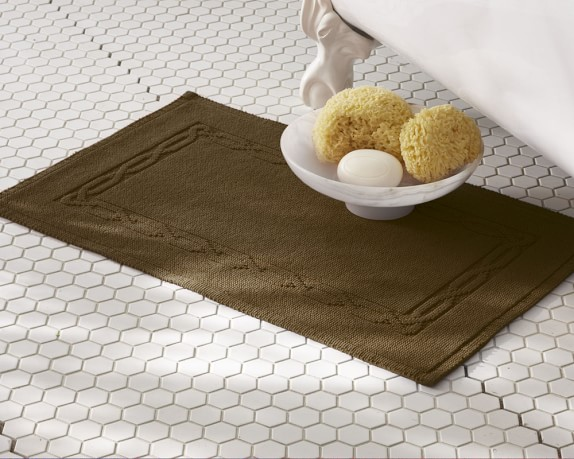 Chambers® Heritage Solid Bath Rug, Chocolate